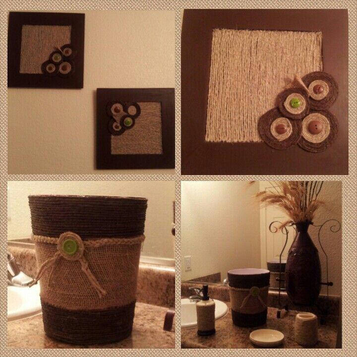 Decoracion para el ba o de cuadros y el bote de basura for Pinterest decoracion banos