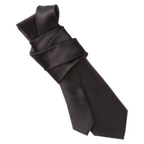 Merona® Men's Skinny Solid Satin Tie - Black