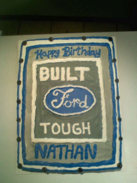 Cake Decorating West Hollywood : 10 best images about Ford Cakes on Pinterest