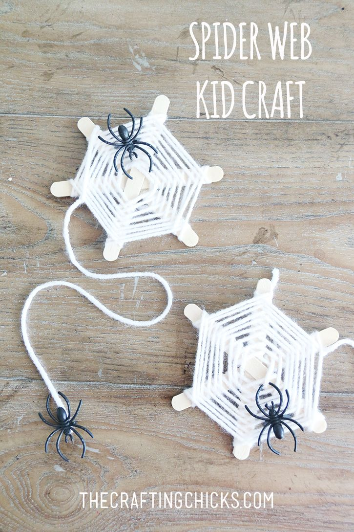 DIY Spider Web Yarn Craft  on thecraftingchicks.com