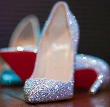 wedding shoes #glitter
