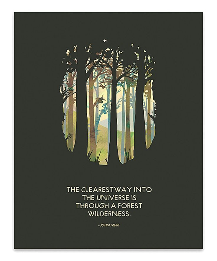 Another great find on #zulily! Wilderness John Muir Quote Print by Tender Loving Empire #zulilyfinds