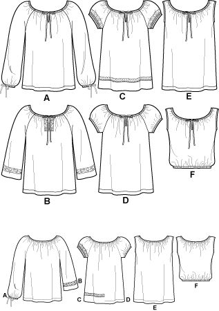 peasant blouse pattern - Simplicity 8741