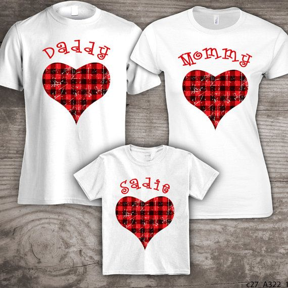 personalized valentines day family t shirts set of 3 by stoykots