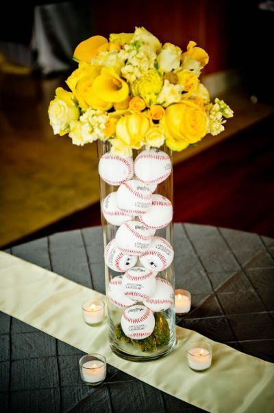 Baseball Wedding Centerpiece Idea
