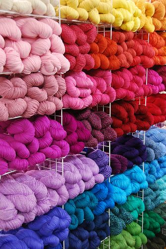 O...M...G... Look at all the yarn... Wish it were all mine...