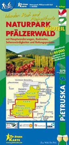 Pfälzerwald Südteil Wanderkarte 1:40.000