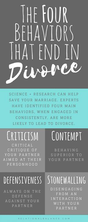 The No. 1 Cause of Divorce You'd Never Think of Save your marriage be avoiding these four leaders of divorce.