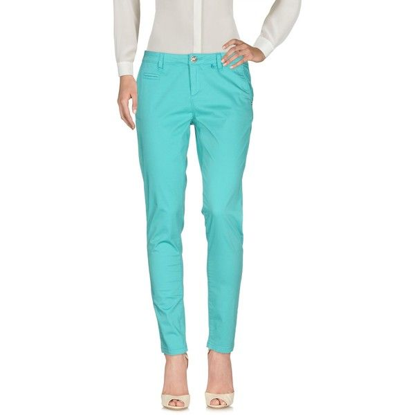 Miss Nenette Casual Trouser ($53) ❤ liked on Polyvore featuring pants, turquoise, multi pocket pants, peg-leg pants, blue chino pants, peg leg pants and chinos pants