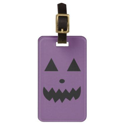 Halloween Purple Luggage Tag - Halloween happyhalloween festival party holiday