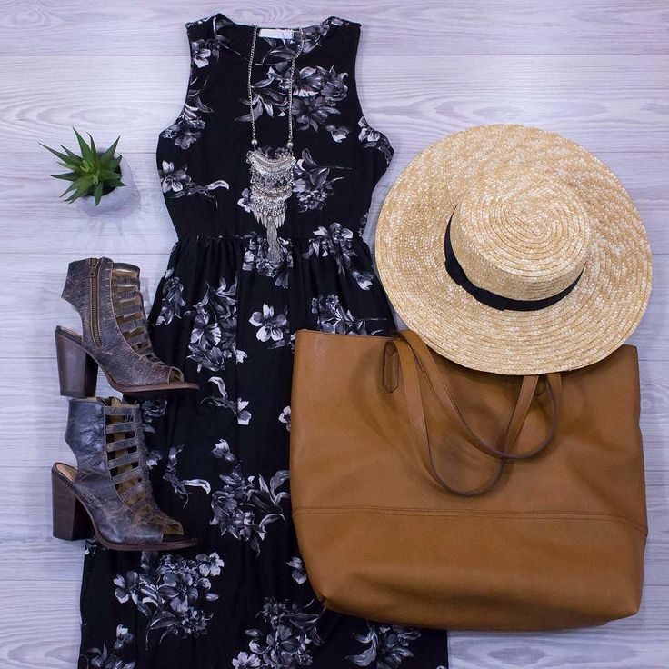 Black/White//Grey this Maxi is so comfortable and beautiful on! Dress it up or wear it casually! Www.shopelysian.com Boho Babe Coined Necklace $22 in-store only  New! Florals at Midnight Maxi Dress $42. online  in-store. Summer Love Straw Hat $28. in-store only. Shopaholic Large Tote in Brown $56. in-store only. Bed Stu Caged Leather Heel $210. online  in-store. #WearElysianDaily http://ift.tt/2s2w0ce Black/White//Grey this Maxi is so comfortable and beautiful on! Dress it up or wear it…