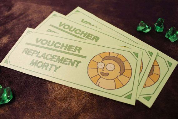 Items Similar To Free Replacement Morty Voucher Certificate
