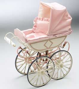 Märklin Trains: Collectables >>Märklin Doll Carriage and Käthe Kruse Baby Doll Becca