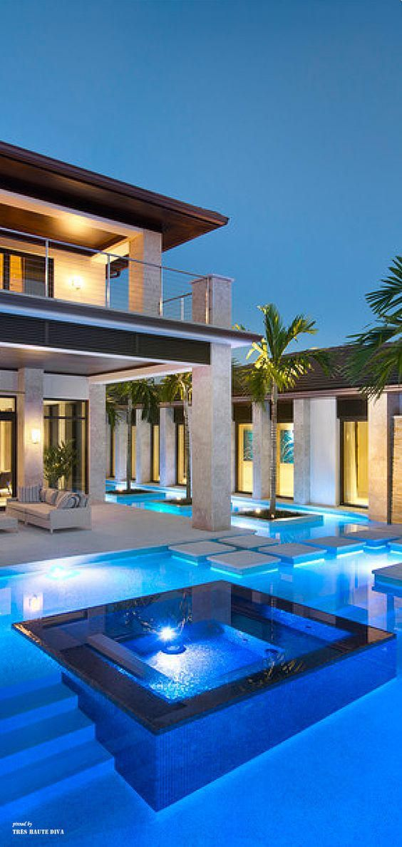 Piscina Integrada Com A Casa Modern Pools Cool Pools Swimming Pool Designs