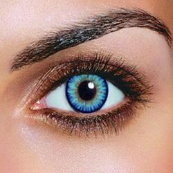 Triple Color Sky Blue Contacts (Pair)
