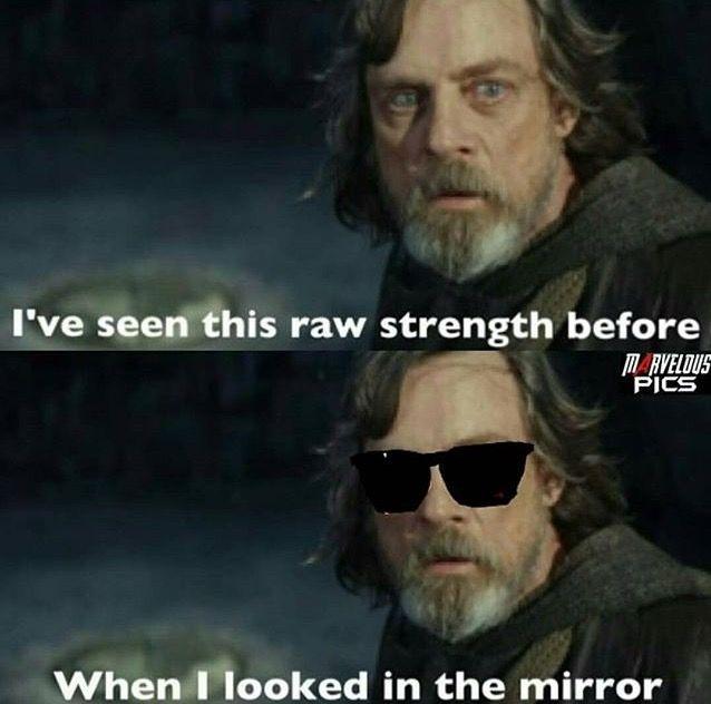 Eu Vi Essa Forca Bruta Antes Quando Eu Olhei No Espelho Star Wars Memes Star Wars Humor Funny Star Wars Memes