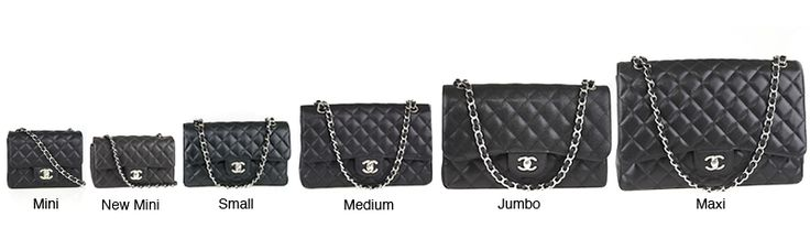 All Chanel flap bag sizes