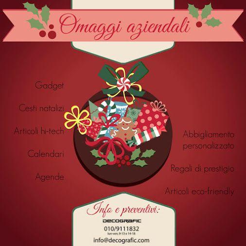 Avete già pensato ai vostri regali aziendali? Chiedeteci un preventivo: abbiamo idee promozionali per tutti i gusti e tutti i prezzi ⇨ www.decografic.com/gadget-promozionali #regaliaziendali   #gadgets2014   #Natale