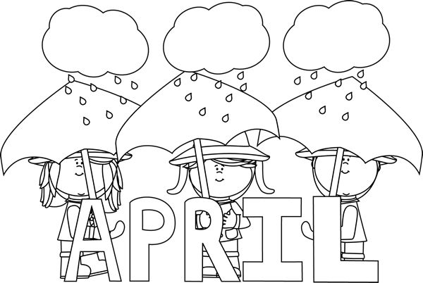 Black and White Month of April Showers