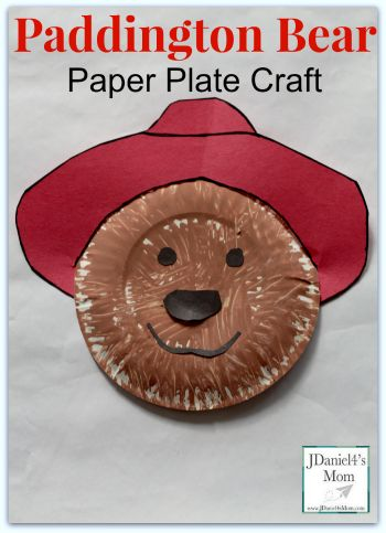 Paddington Bear Paper Plate Craft- It would be fun to make a paper plate Paddington for a story retelling.