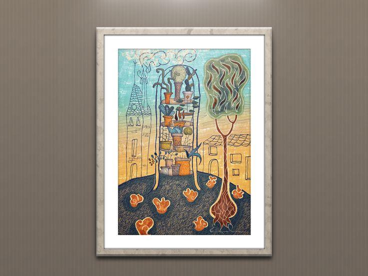 Ilustración estantería plantas. Enrique Parra