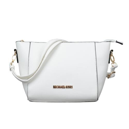 Welcome To Our Michael Kors Travel Signature Small White Crossbody ...