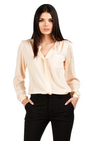 Łosiowa koszula damska ze swobodnymi rękawami