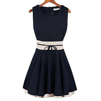 Splicing colore Ruffle mini vestito delle donne - EUR € 15.58