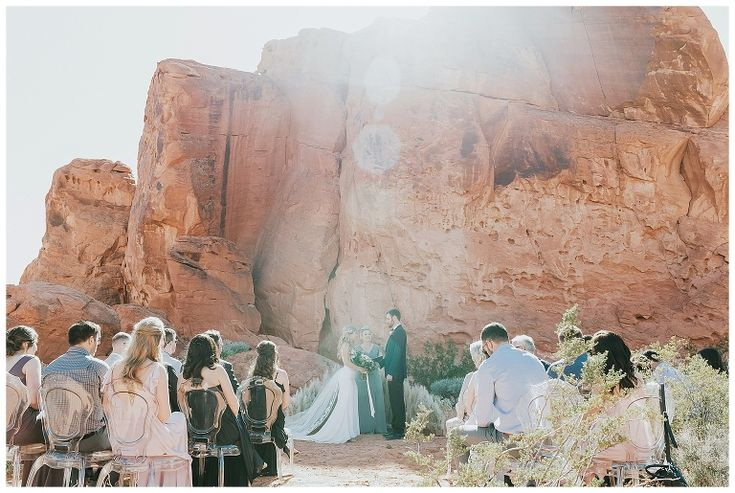 Exclusive outdoor destination wedding near las vegas