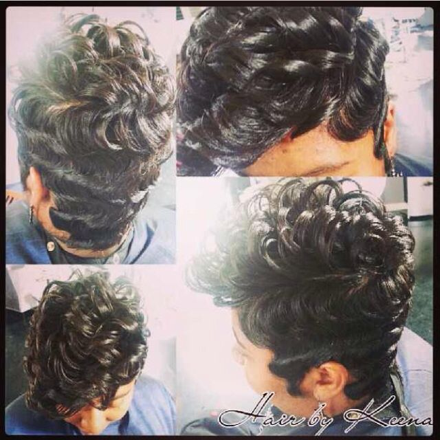 wave style hair finger waves on american hair 7544