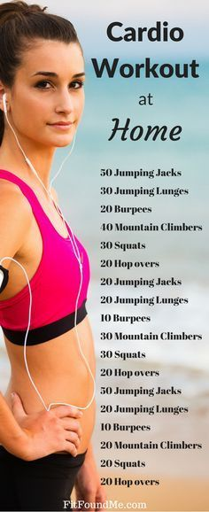 30 min cardio workout at home. No equipment workout. Weight loss workouts at home.