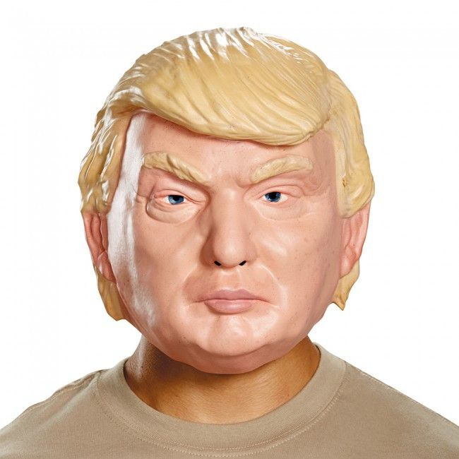 Disguise Adult Donald Trump Vacuform 1/2 Mask Costume Piece