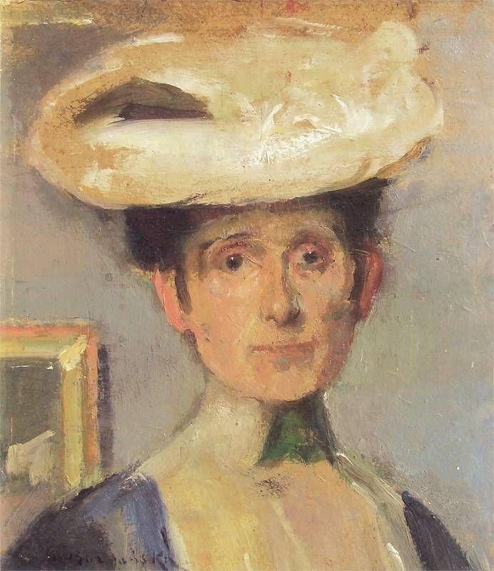 Olga Boznańska, Autoportret