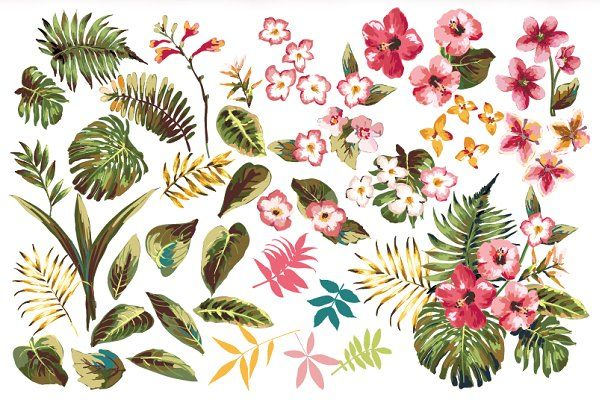 Seamless tropical patterns Vol.1 - Patterns