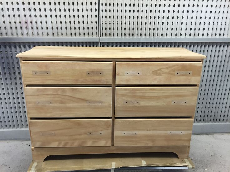 The James project: 6 #drawer #birch #dresser has been #sanded. Awaiting the #staining stage