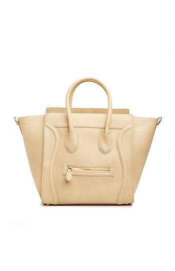 DAILYLOOK Large Structured Handbag in Beige | DAILYLOOK