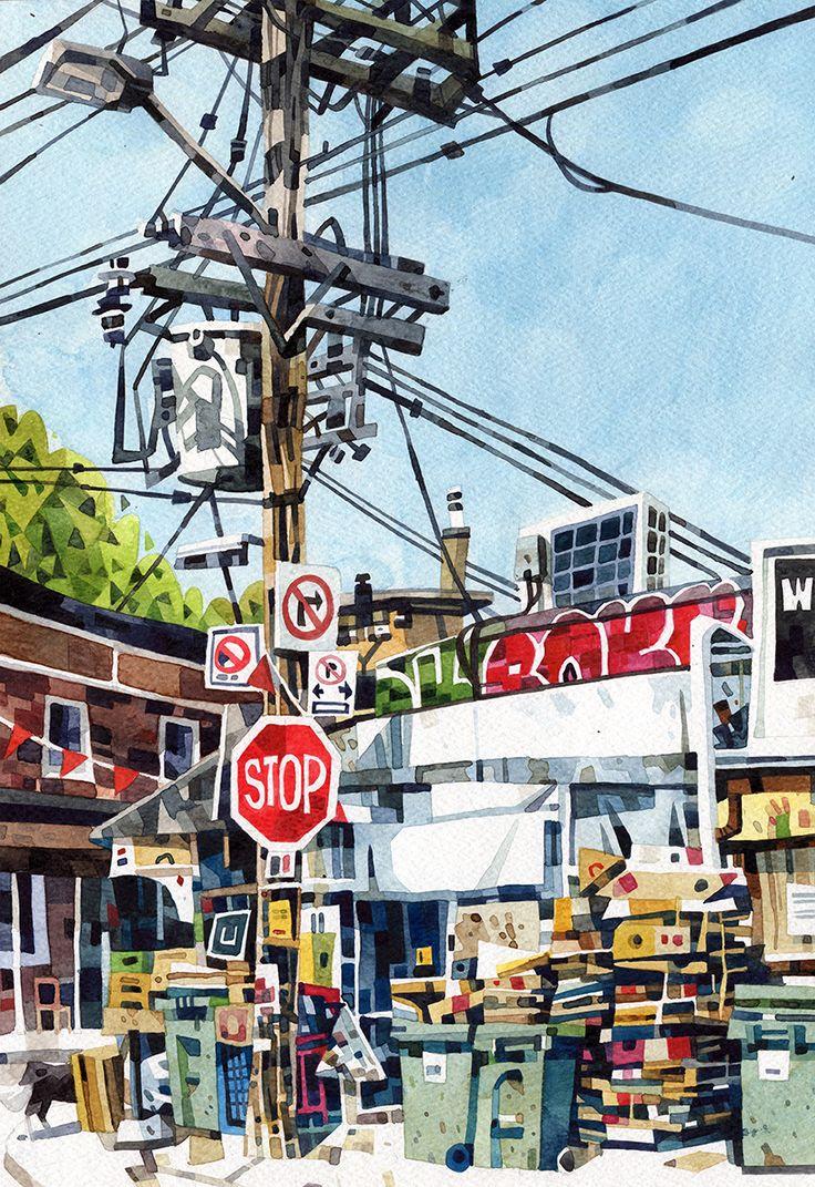 I Heart Pencils: Toronto Watercolours
