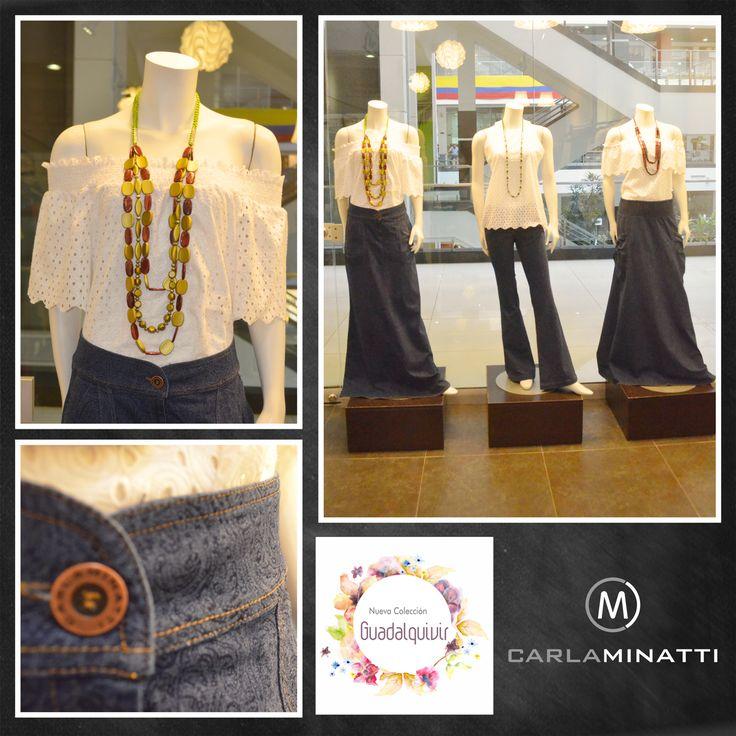 La hojarota y el indigo con este tenue estampado, hacen parte de nuestra minicolección crucero de este año. #CMVitrinadeldia