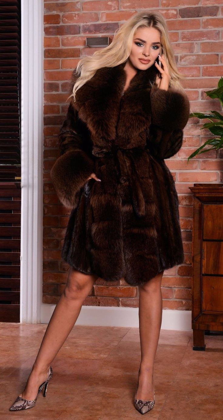 MINK FUR COAT WITH FOX FUR. & FOX FUR IN SABLE COLOR. SAGA MINK. LOOKS LIKE SABLE. SAGA MINK ! NEW WITH INSIDE LABEL. IS ONE OF THIS FUR THAT WE DO NOT HAVE TO RECOMMEND. ON THE MARKET. | eBay!