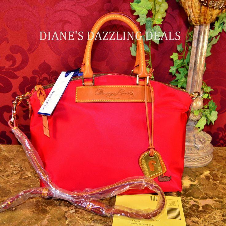 Dooney & Bourke NWT WOW Red Nylon & Leather Satchel Shoulder Bag BEAUTIFUL