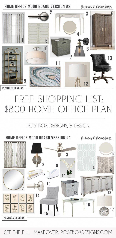 Grab the free plan u shopping list girl boss home office