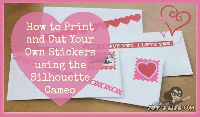 How to Print & Cut Stickers with Silhouette Cameo #SilhouetteCameo #PrintCut #Stickers