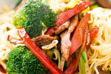 Ginger beef, broccoli and noodle stir-fry – Recipes – Bite
