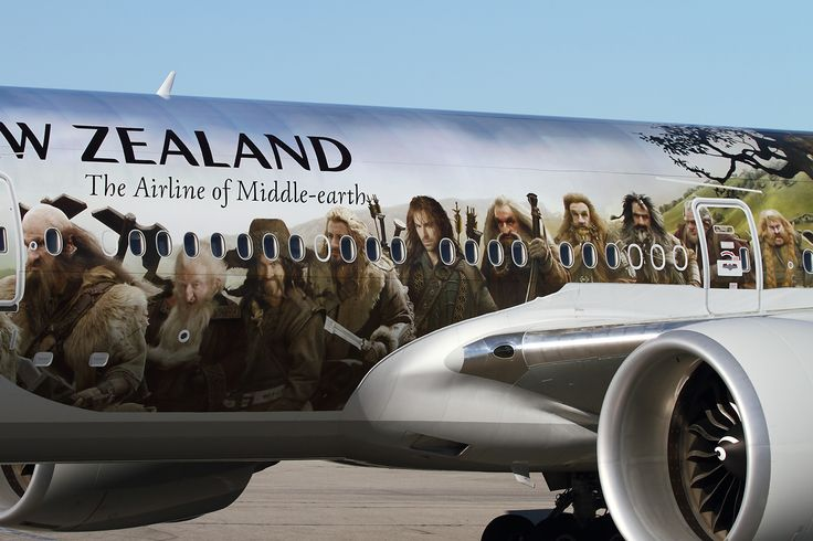 Air New Zealand Boeing 777 (ZK-OKP) in special Hobbit Livery. Image by Brandon Farris