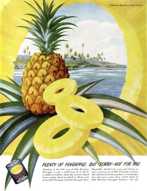 Dole pineapple 1945