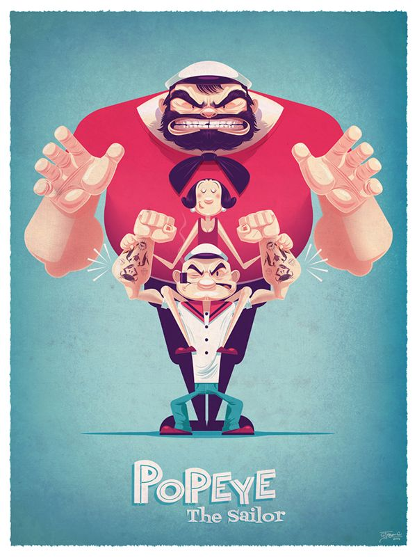 POPEYE 85TH EXHIBITION by James Gilleard