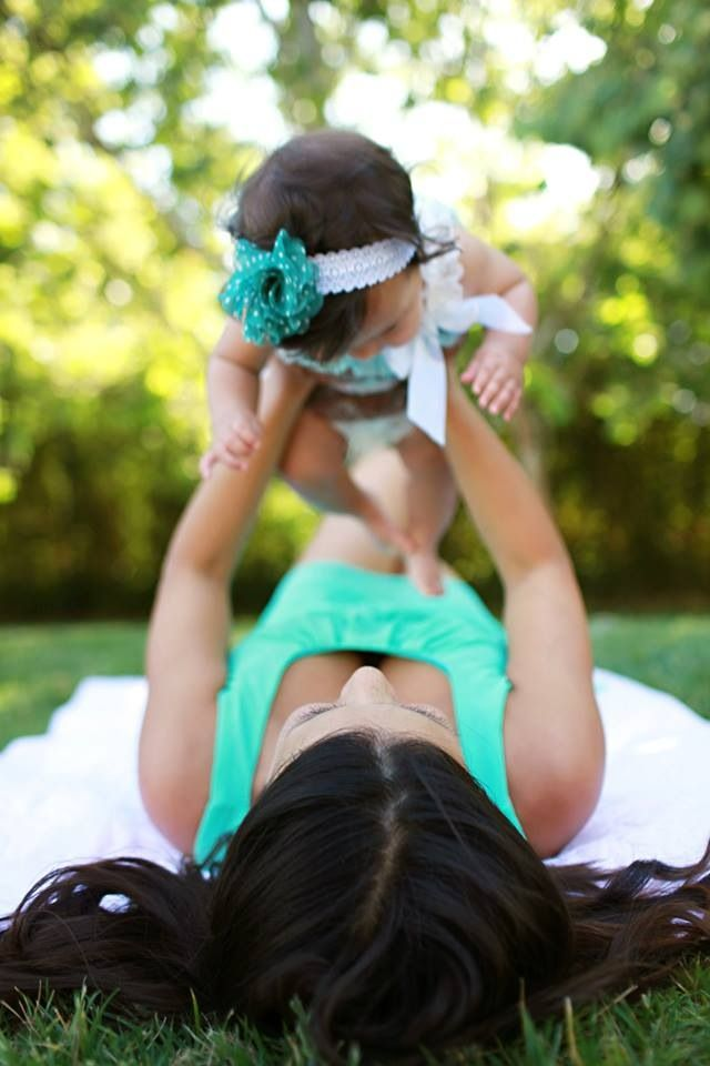 Me and my baby girl! We had tons of fun outside. She almost ate a leaf! Cherishing these moments forever @Sydneylovesrp