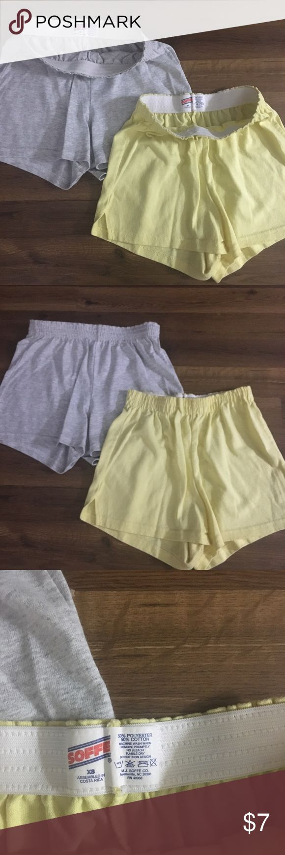 Bundle soffee shorts Yellow and gray soffee shorts, both size small. Soffee Shorts
