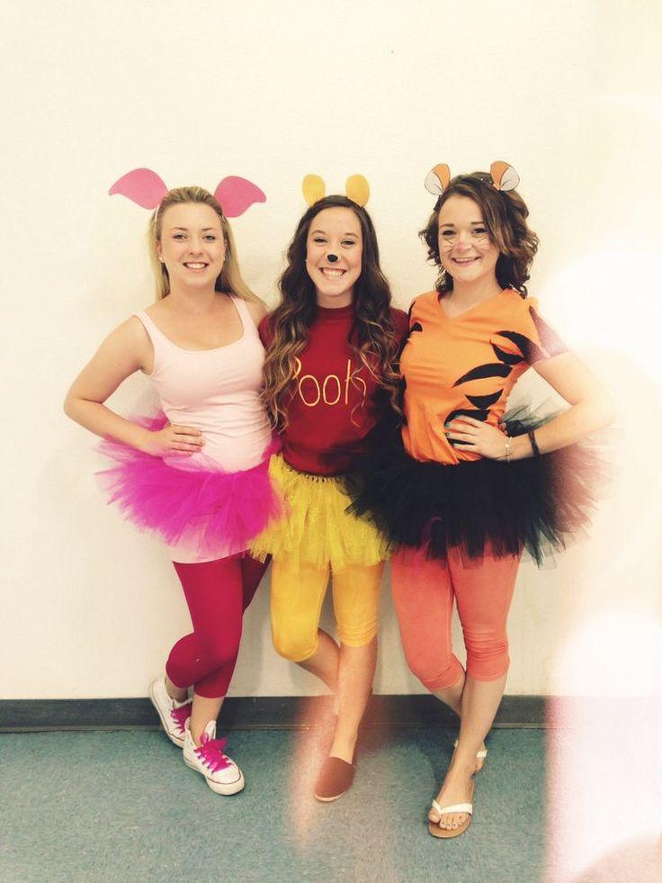 winnie the pooh costumes - 3 Girl Costumes Halloween