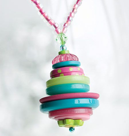 I Like the stacked button pendant necklace!!! KB